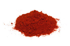 Red pepper spice. Isolated on white background Stock Image