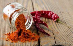 Red pepper spice Royalty Free Stock Images