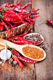 Red pepper and spices Royalty Free Stock Photo