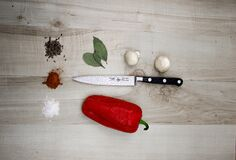 Red pepper and spices Royalty Free Stock Photos