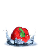 Red pepper splash Royalty Free Stock Photography