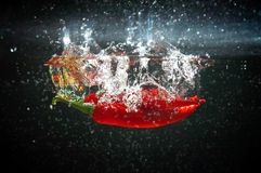 Red Pepper Splash Royalty Free Stock Photos