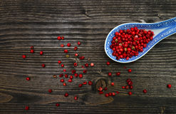 Red pepper spoon Royalty Free Stock Images