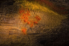 Red pepper spread acrosss a wooden surface Stock Images