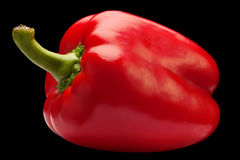 Red pepper vegetable on black Royalty Free Stock Photo