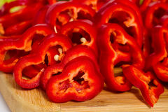 Red pepper vegetables  Stock Image