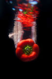 Red pepper in water Stock Images