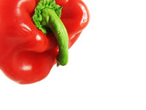 Red pepper on white stock photos