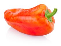 Red pepper on white background. Red pepper on a white background stock photos