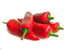 Red pepper on white background Stock Images