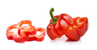 Red pepper on white background Royalty Free Stock Images