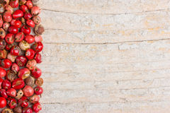 Red pepper on wooden white background Royalty Free Stock Images