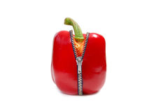 Red pepper zip Royalty Free Stock Image