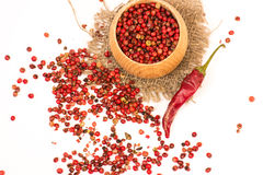 Red peppercorn isolated Royalty Free Stock Image