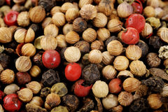 Red peppercorns seeds Stock Photo