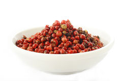 Red peppercorns seeds Stock Photography