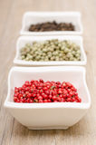 Red peppercorns in vertical format Royalty Free Stock Photo