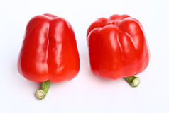 Red peppers. Two red peppers on white background Stock Image