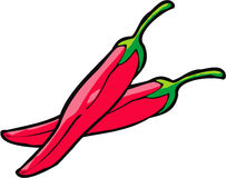 Red Peppers. Vector art for peppers or simple artwork for red peppers Stock Image