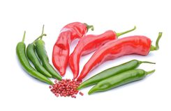 Red peppers and chili peppers Stock Photography