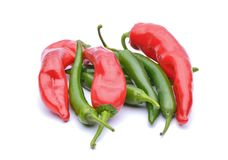 Red peppers and chili peppers Royalty Free Stock Images