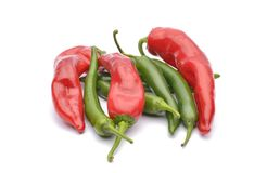 Red peppers and chili peppers Stock Image