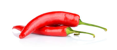 Free Red Peppers, Chilli Isolated On White Background Stock Images - 43835484