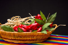 Red Peppers Display Stock Photography