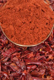 Red Peppers dried Stock Photo