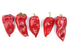 Red Peppers in Group Stock Photos