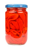 Red Peppers Jar Stock Photos