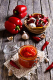 Red peppers marinated Royalty Free Stock Images