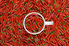 Red Peppers Mug Royalty Free Stock Photo