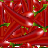 Red peppers pattern Stock Image