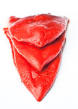 Red peppers peeled Royalty Free Stock Photography
