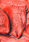 Red peppers peeled Royalty Free Stock Images