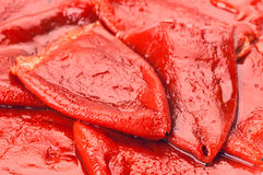 Red peppers peeled Royalty Free Stock Image