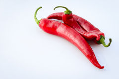 Red peppers in the summer sun Royalty Free Stock Photos
