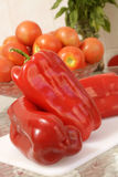 Red peppers and tomatoes Royalty Free Stock Photography