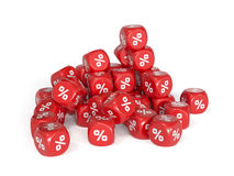 Red percent dices Stock Images