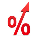 Red percent increase Stock Photos