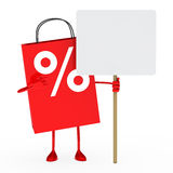 Red percent sale bag Royalty Free Stock Photos