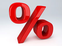 Red percent sign Royalty Free Stock Images