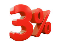 Red Percent Sign Isolated Royalty Free Stock Photography