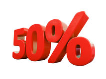 Red Percent Sign Isolated Royalty Free Stock Image