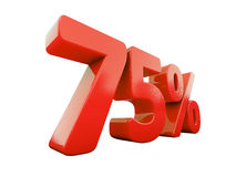 Red Percent Sign Isolated Stock Photography