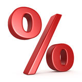 Red Percent Sign Stock Photos