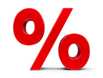 Red Percent #4 Stock Photo