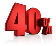 Red 40 Percent Royalty Free Stock Image