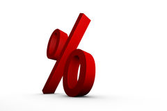 Red percentage sign Stock Photography